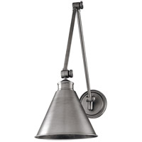 Hudson Valley Lighting Exeter 1 Light Wall Sconce in Antique Nickel 4721-AN