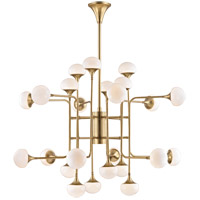 Fleming LED 46 inch Aged Brass Chandelier Ceiling Light