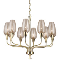 Hudson Valley 4725-AGB Longmont 10 Light 25 inch Aged Brass Chandelier Ceiling Light