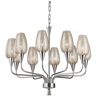 Hudson Valley Lighting Longmont 10 Light Chandelier in Polished Nickel 4725-PN