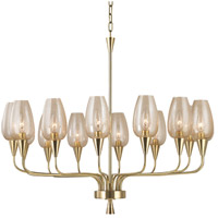 Longmont 14 Light 32 inch Aged Brass Chandelier Ceiling Light