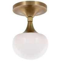 Fleming LED 5 inch Aged Brass Bath Wall Light