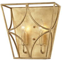 Green Point 2 Light 12 inch Gold Leaf Wall Sconce Wall Light