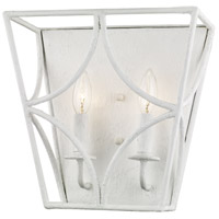 Green Point 2 Light 12 inch White Plaster Wall Sconce Wall Light