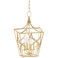 Green Point 4 Light 12 inch Gold Leaf Pendant Ceiling Light