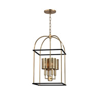 Vestal 4 Light 14 inch Aged Brass Pendant Ceiling Light