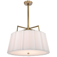 Hudson Valley 4832-AGB Humphrey 5 Light 32 inch Aged Brass Chandelier Ceiling Light photo thumbnail