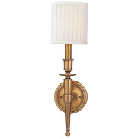 Hudson Valley Lighting Abington 1 Light Wall Sconce in Aged Brass 4901-AGB