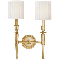 Abington 2 Light 12 inch Aged Brass Wall Sconce Wall Light
