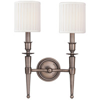 Abington 2 Light 12 inch Antique Nickel Wall Sconce Wall Light