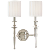 Abington 2 Light 12 inch Polished Nickel Wall Sconce Wall Light