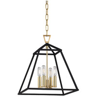 Webster 4 Light 14 inch Aged Brass Pendant Ceiling Light
