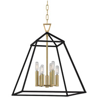 Webster 6 Light 19 inch Aged Brass Pendant Ceiling Light