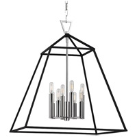 Hudson Valley Lighting Webster 8 Light Pendant in Polished Nickel 4924-PN