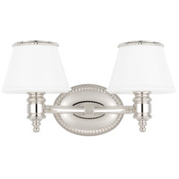 Hudson Valley 4942-PN Richmond 2 Light 15 inch Polished Nickel Bath And Vanity Wall Light photo thumbnail