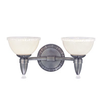 Hudson Valley Lighting Bloomfield 2 Light Bath And Vanity in Antique Nickel 4992-AN