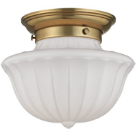 Dutchess 1 Light 9 inch Aged Brass Flush Mount Ceiling Light