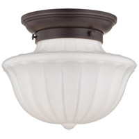 Dutchess 1 Light 9 inch Old Bronze Flush Mount Ceiling Light
