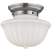 Hudson Valley Lighting Dutchess 1 Light Flush Mount in Polished Nickel 5009F-PN