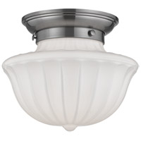 Dutchess 1 Light 9 inch Satin Nickel Flush Mount Ceiling Light