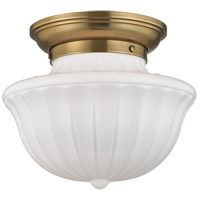 Hudson Valley Lighting Dutchess 1 Light Flush Mount in Aged Brass 5012F-AGB