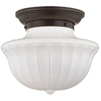 Dutchess 1 Light 12 inch Old Bronze Flush Mount Ceiling Light