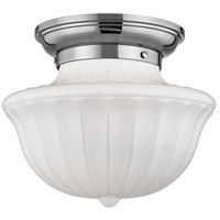 Hudson Valley Lighting Dutchess 1 Light Flush Mount in Polished Nickel 5012F-PN