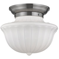 Dutchess 1 Light 12 inch Satin Nickel Flush Mount Ceiling Light