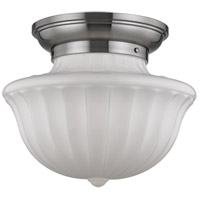Dutchess 2 Light 15 inch Satin Nickel Flush Mount Ceiling Light
