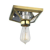 Thurston 1 Light 6 inch Aged Brass Semi Flush Ceiling Light