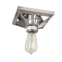 Thurston 1 Light 6 inch Aged Silver Semi Flush Ceiling Light