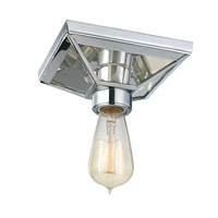 Hudson Valley 5080-PC Thurston 1 Light 6 inch Polished Chrome Semi Flush Ceiling Light photo thumbnail