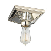 Hudson Valley 5080-PN Thurston 1 Light 6 inch Polished Nickel Semi Flush Ceiling Light photo thumbnail