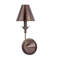 Hudson Valley Lighting Tivoli 1 Light Wall Sconce in Distressed Bronze 510-DB