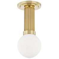 Hudson Valley 5106-AGB Reade LED 5 inch Aged Brass Semi Flush Mount Ceiling Light