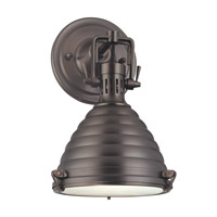 Hudson Valley Lighting Naugatuck 1 Light Wall Sconce in Historic Bronze 5108-HB