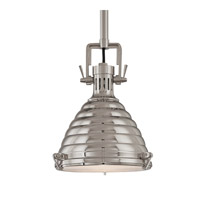 Hudson Valley Lighting Naugatuck 1 Light Pendant in Polished Nickel 5109-PN