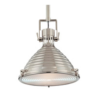 Hudson Valley Lighting Naugatuck 1 Light Pendant in Polished Nickel 5111-PN