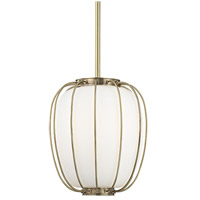 Hudson Valley 5114-AGB Ephron 1 Light 14 inch Aged Brass Pendant Ceiling Light
