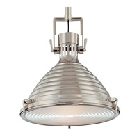 Hudson Valley Lighting Naugatuck 1 Light Pendant in Polished Nickel 5115-PN