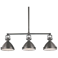 Naugatuck 3 Light 44 inch Antique Nickel Island Light Ceiling Light