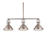 Hudson Valley 5123-PN Naugatuck 3 Light 44 inch Polished Nickel Island Light Ceiling Light photo thumbnail