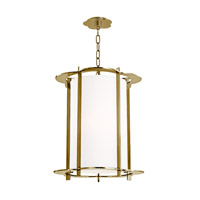Hudson Valley Lighting Warwick 5 Light Pendant in Aged Brass 517-AGB