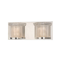 Hudson Valley Lighting Denning 2 Light Xenon Bath And Vanity in Polished Nickel 5192-PN
