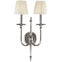 Jefferson 2 Light 12 inch Polished Nickel Wall Sconce Wall Light