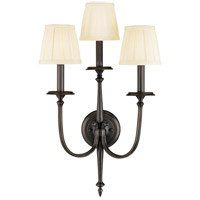Jefferson 3 Light 14 inch Old Bronze Wall Sconce Wall Light