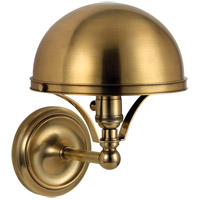 Hudson Valley Lighting Covington 1 Light Wall Sconce in Aged Brass 521-AGB