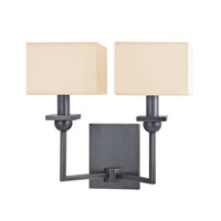 Hudson Valley 5212-OB Morris 2 Light 13 inch Old Bronze Wall Sconce Wall Light in Eco Paper photo thumbnail