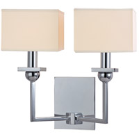 Hudson Valley Lighting Morris 2 Light Wall Sconce in Polished Chrome with Eco Paper Shade 5212-PC