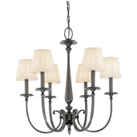 Jefferson 6 Light 25 inch Antique Nickel Chandelier Ceiling Light